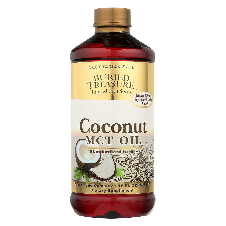 ライン虫を数える迫害海外直送品Coconut Oil MCT, 16 oz by Buried Treasure