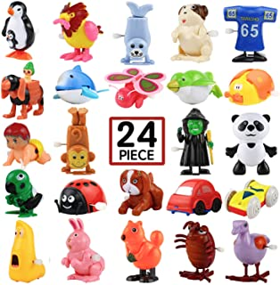 Wind-Up Toys, 24 Pack Assorted Mini Toy for Kids Party Favors, Birthday Goody Bag Filler Preschool Toy for Boys Girls Chil...