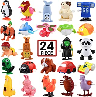 Wind-Up Toys, 24 Pack Assorted Mini Toy for Kids Party Favors, Birthday Goody Bag Filler Preschool Toy for Boys Girls Children,Gifts Pinata Filler Carniva Prizes Classroom Incentive Reward