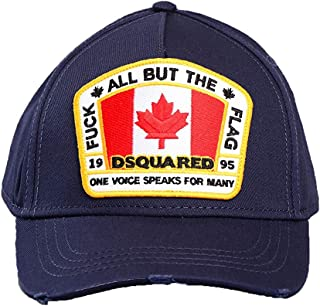 DSQUARED2 Mens PAtch Logo Baseball Cap In Navy