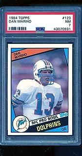 1984 Topps #123 Dan Marino RC ROOKIE PSA 7 NM Graded Football Card