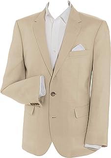 Samuel Windsor 100% Linen Suit Jacket in Natural & Blue