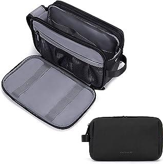 BAGSMART トイレタリーバッグ 化粧ポーチ 大容量 防水 洗面用具入れ 仕切り コスメセット バスルームポーチ 出張 海外 旅行用 メンズ