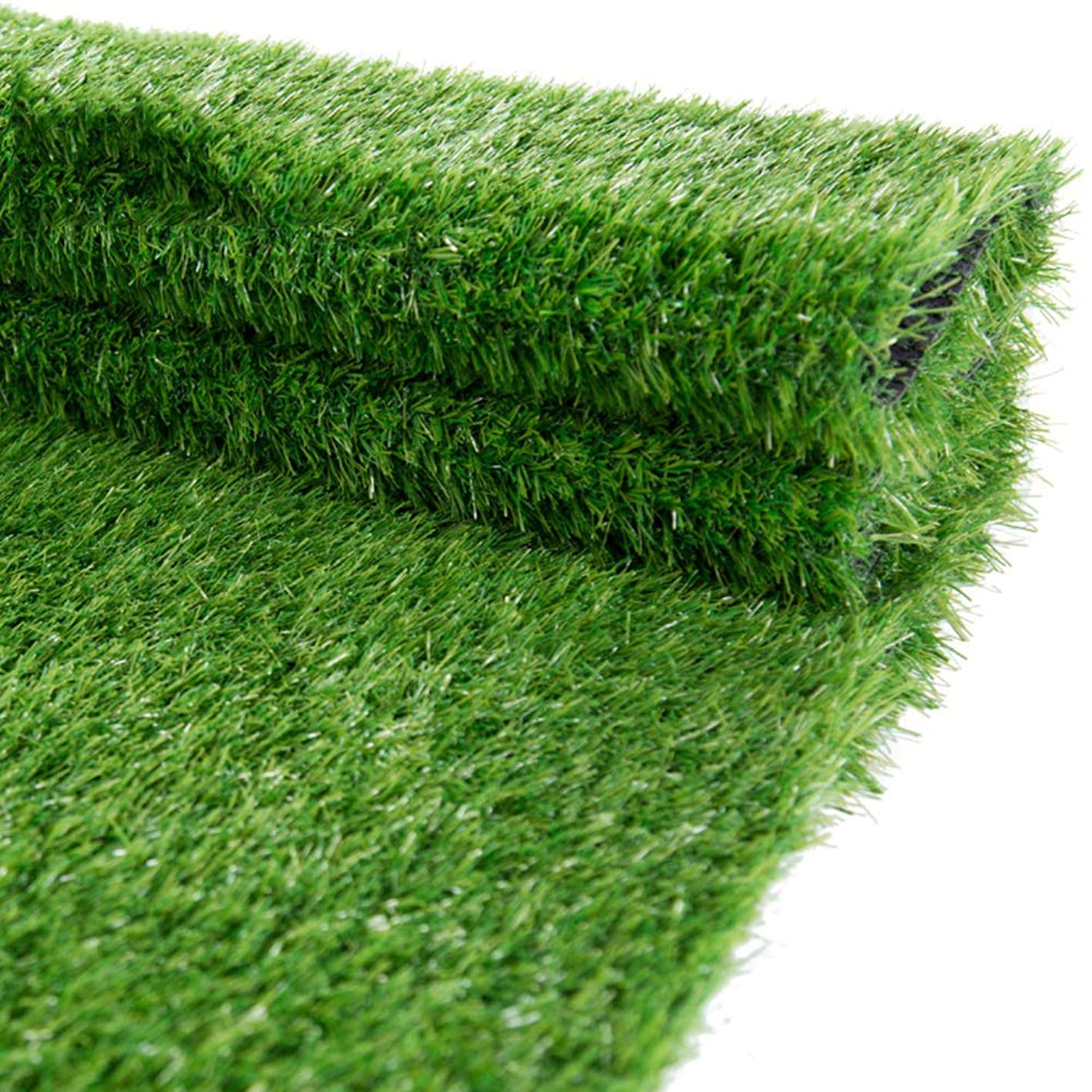 YEYE High Density Artificial Grass,Synthetic 40mm Pet Turf with Drainage Holes Rubber Backing Grass Rug for Patio Balcony Fake Grass-Green 200x350cm(79x138inch) eajcudllwlf758