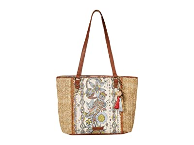 Sakroots Artist Circle Medium Satchel (Sunshine Spirit Desert) Satchel Handbags