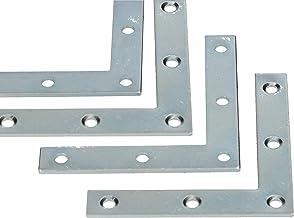 KOTARBAU® Set van 25 hoekhoeken 60 x 60 x 10 x 1,5 mm hoekverbinder hoekbeugel platte hoek L-vorm meubelhoek voor het vers...