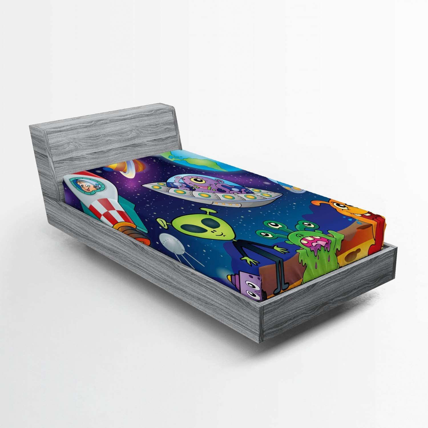 Lunarable Outer Space Sale SALE% OFF Fitted Sheet Planet on Interstell Fantasy Dealing full price reduction
