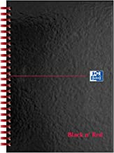 Oxford Black n' Red, A5 Notebook Hardcover, Glossy, Wirebound, Lined, 1 Notebook
