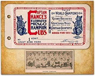 1911 Chicago Champions Season Pass Book Cover - 11x14 Unframed Art Print - Great Sports Bar Decor and Gift Under $15 for Chicago Cubs Fans