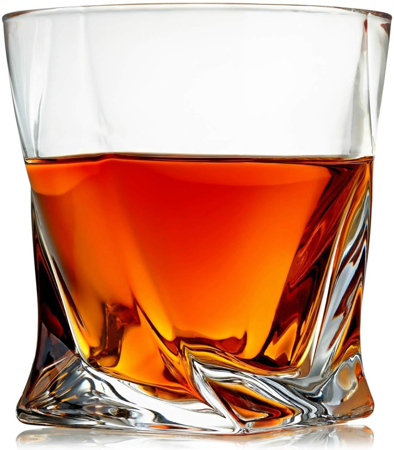 Venero Crystal Whiskey Glasses Lead Free