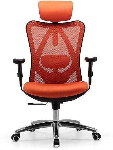 SIHOO Bürostuhl Ergonomischer Schreibtischstuhl, Drehstuhl hat Verstellbarer Lordosenstütze, Kopfstütze und Armlehne, Höhenverstellung und…