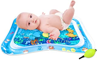 PALA PERRA Tummy Time Mat Baby Tummy Time Water Mat, 26 x 20 Inch Inflatable Tummy Time Mat for 3 to 24 Months Newborn Fun...