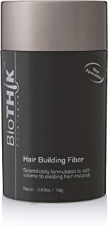 BioTHIK Hair Building Fiber - Cosmetically Improves the Appearance of Thinning Hair with Natural Keratin (0.6oz, Black)