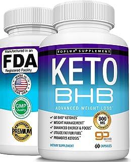 Keto Pills Ketosis Diet BHB Salt - Natural Ketosis Using Ketone & Ketogenic Diet, Support Energy & Focus with Exogenous Ke...
