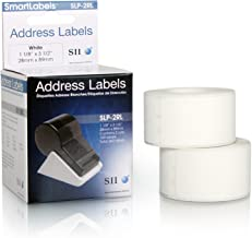Seiko Instruments White Address Labels for Smart Label Printers (SLP-2RL)
