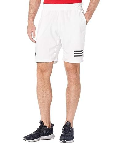 adidas Club 3-Stripes Shorts (White/Black) Men