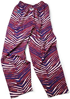 NFL Buffalo Bills Mens Classic Zebra Printed Athletic Lounge Pants, New Blue/Red XX-Large