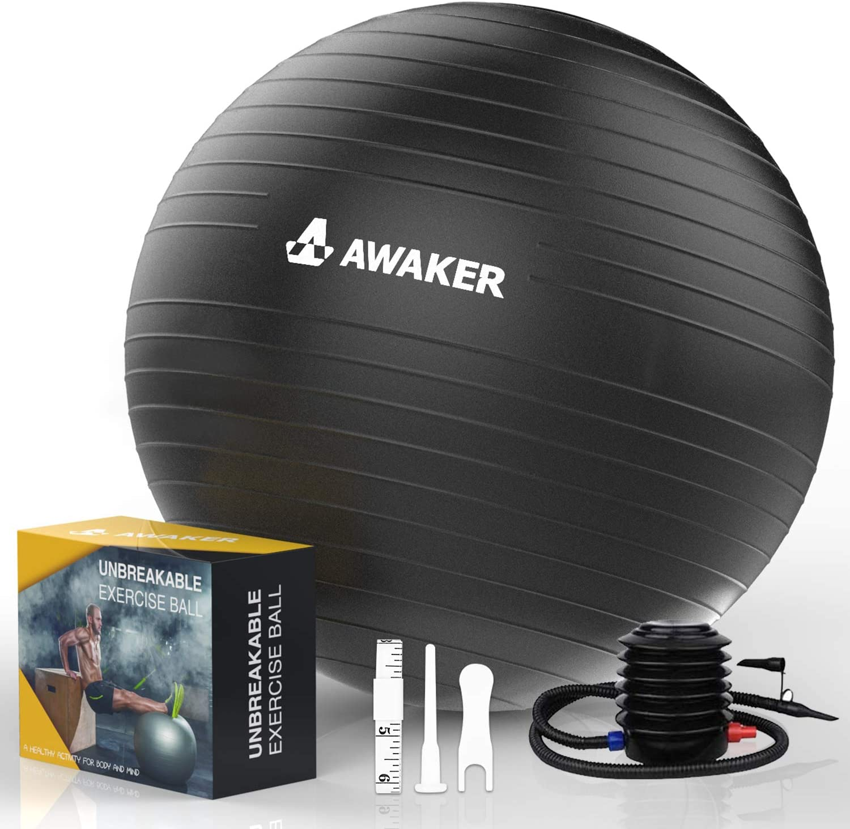 AWAKER Exercise Oklahoma City Mall Ball 55-75cm Anti-Burst with Max 89% OFF Qu Yoga Chair