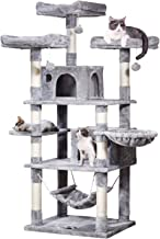 MQ Multi-Level Cat Tree, Activity Cat Tower Furniture with Sisal-Covered Scratching Post 3 Padded Plush Perches Dual Condo...