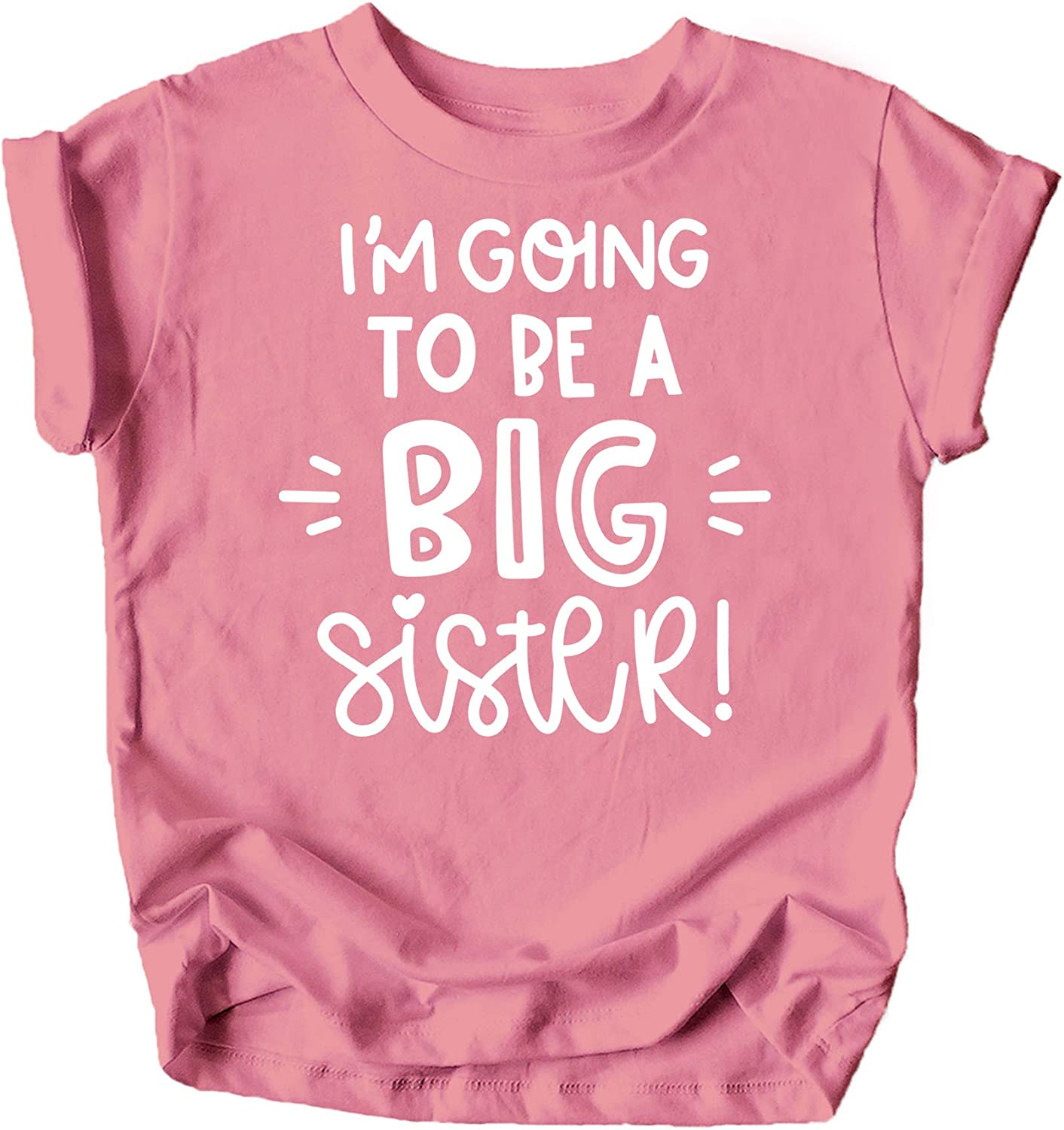 Olive Loves Apple Big Sister New Baby Reveal I'm Going to Be A Big Sister New Sibling Announcement T-Shirts and Raglans