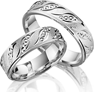 2x Rings In 925 Silver With Engraving and Stone