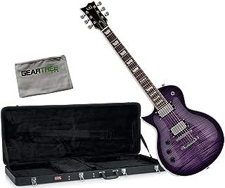 ESP LTD EC-256FM STPS See Thru Purple Left Handed Electric Guitar w/Case and Clo