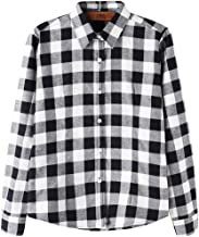 DOKKIA Women's Casual Blouses Long Sleeve Buffalo Plaid Checkered Flannel Shirts
