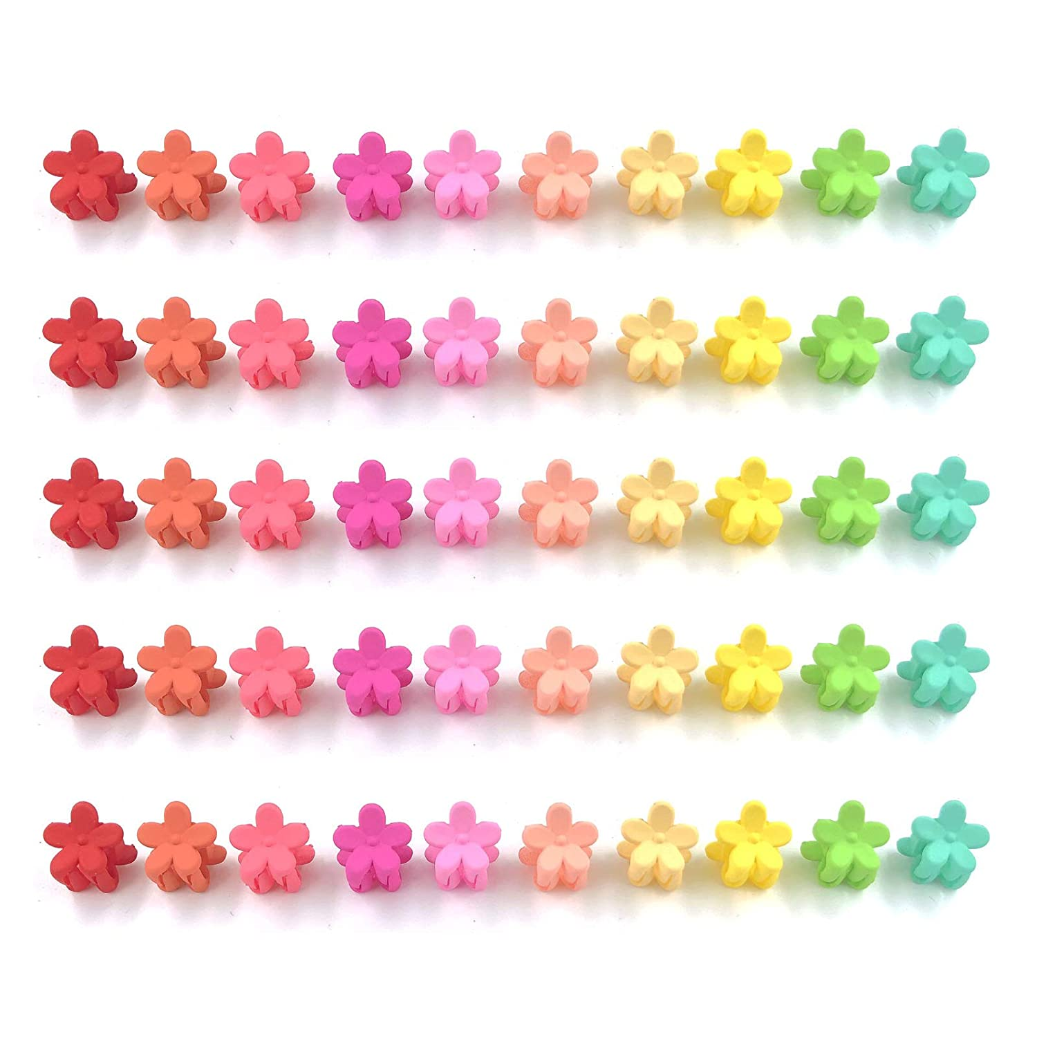 100 Packs Colorful 2021new shipping free Hair Claw As 2021new shipping free shipping Jaw Mini Clips Flower