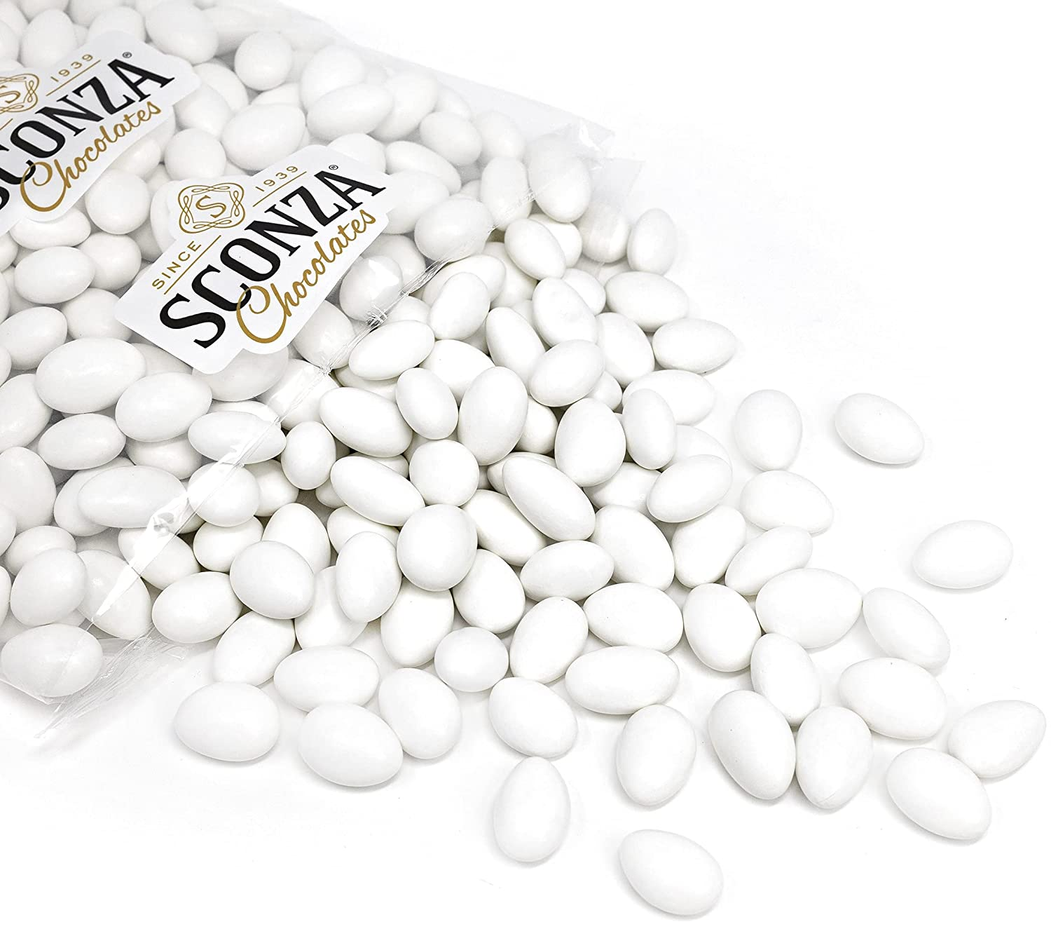 Superior White Colorado Springs Mall Jordan Almonds By Sconza Covered 5LB Candy Chocolates
