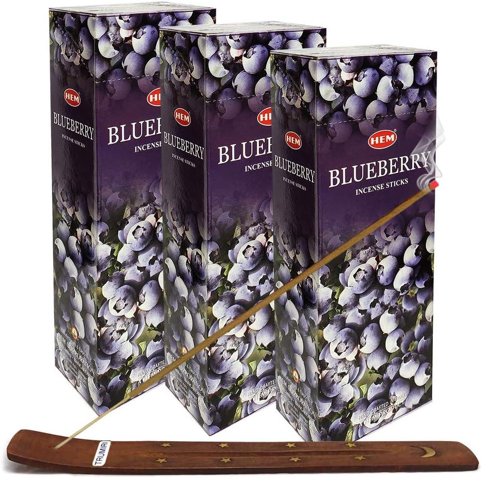 Year-end gift TRUMIRI Incense Super Special SALE held Stick Holder Bundle Incen 20g with Blueberry Hem