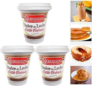 3 La Serenisima Dulce De Leche Jar 400g 14oz Milk Caramel Spread Arequipe Cajeta