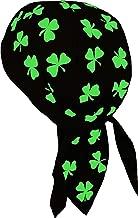 Irish Skull Cap St. Patrick's Day Shamrock Clover Doo Rag Bandana Du Wrap