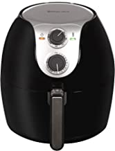 Magic Chef Airfryer 5.6 Quart Electric Cooker Easy to Use Air Fryer, Dishwasher Safe Basket with Recipe Book Included, MCAF56MB, Black