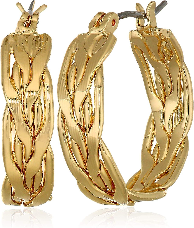Napier Women's Gold Small Think Hoop Earrings