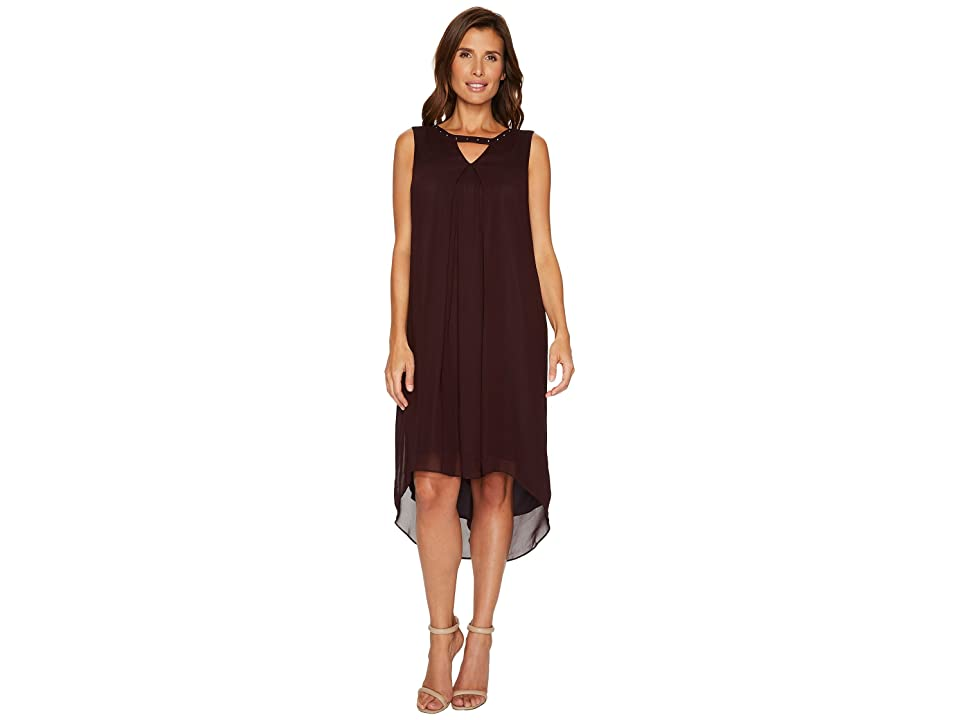 NIC+ZOE Keyhole Float Dress (Black Dahlia) Women