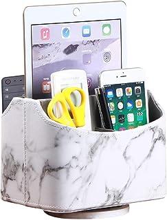 N\A 3 F/ächer Desktop-Organizer Brille Schreibtisch Handy Fernbedienungshalter Kosmetik UVM Leder Fernbedienung Organizer Aufbewahrung f/ür Fernbedienung geeigneter Organizer f/ür B/üro Stifte