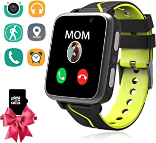 Kids Smart Watch with MP3 Player, Student Music Smartwatch Phone with 2 Way Calls LBS Tracker Camera SOS Flashlight Alarm Clock Sport Wristband Birthday Gifts Watches Compatible with Android iOS
