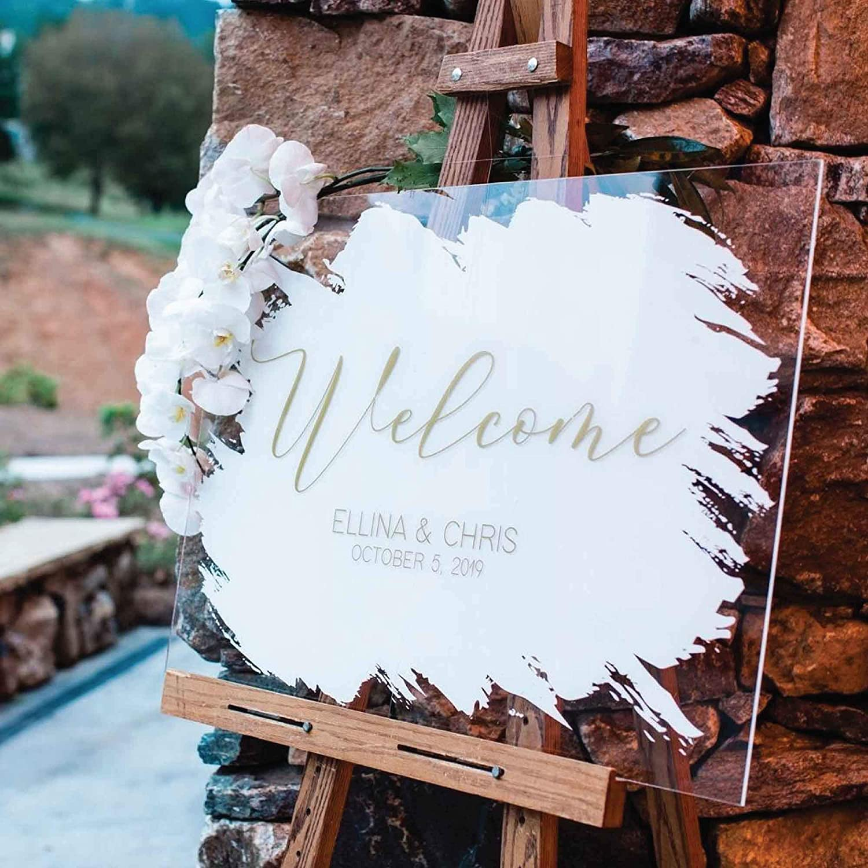 Custom Wedding Tulsa Mall Welcome Sign P Decoration Clear Acrylic Free shipping