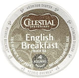 Celestial Seasonings English Breakfast Black Tea, K-Cup Portion Pack for Keurig K-Cup Brewers, 60-Count