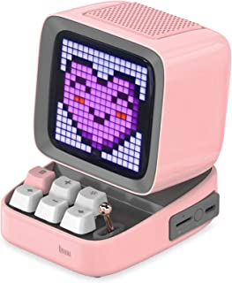 DIVOOM ACDIVDITPNK Divoom Ditoo Pixel Art Portable Bluetooth Speaker with App Controlled 16X16 LED Front Panel Pink - Pink...