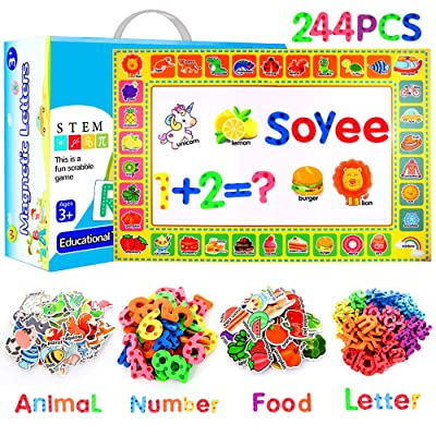 Soyee 244pcs Magnetic Letters Educational Toys ...