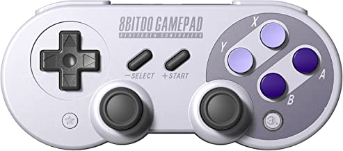 8Bitdo SN30 Pro Wireless Bluetooth Controller Gamepad Dual Classic Joystick for Windows, Mac OS, Android, Linux, Raspberry Pi, Steam, etc, Compatible with Nintendo Switch, with Extra Carrying Bag