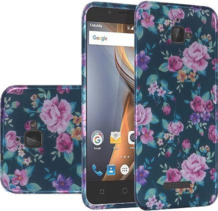 HRWireless Cell teléfono Celular para Coolpad–Retail Packaging–Tropical Romantic Colorful Roses Floral