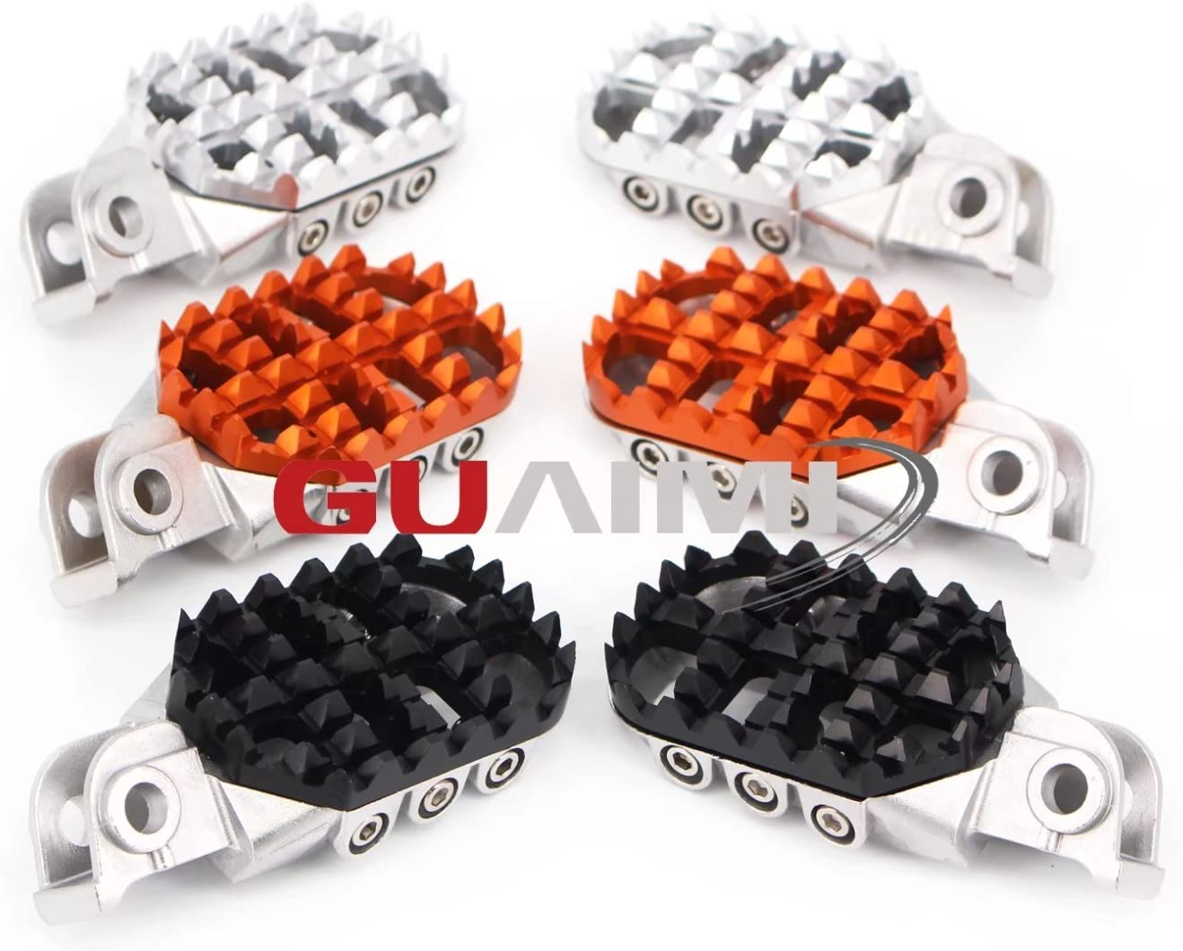 Motorcycle Joint Footrests Adjustable Foot Rests Pedal For Ktm Exc Xc Sx Sx F 50 125 250 350 450 525 530 660 950 990 Orange Auto