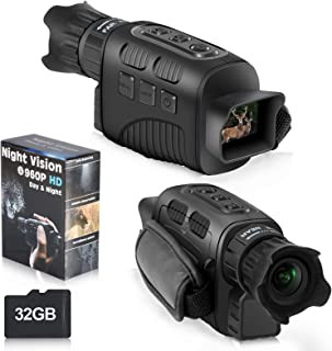 """Night Vision Monocular Infrared Night Vision Scope Digital Monocular with 1.5"""" TFT LCD Take Photo/Video Recording/Playback..."""