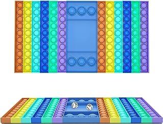 Big Pop Game Fidget Toy, Rainbow Chess Board Push Bubble Popper Fidget Sensory Toys for Parent-Child Time, Interactive Jum...