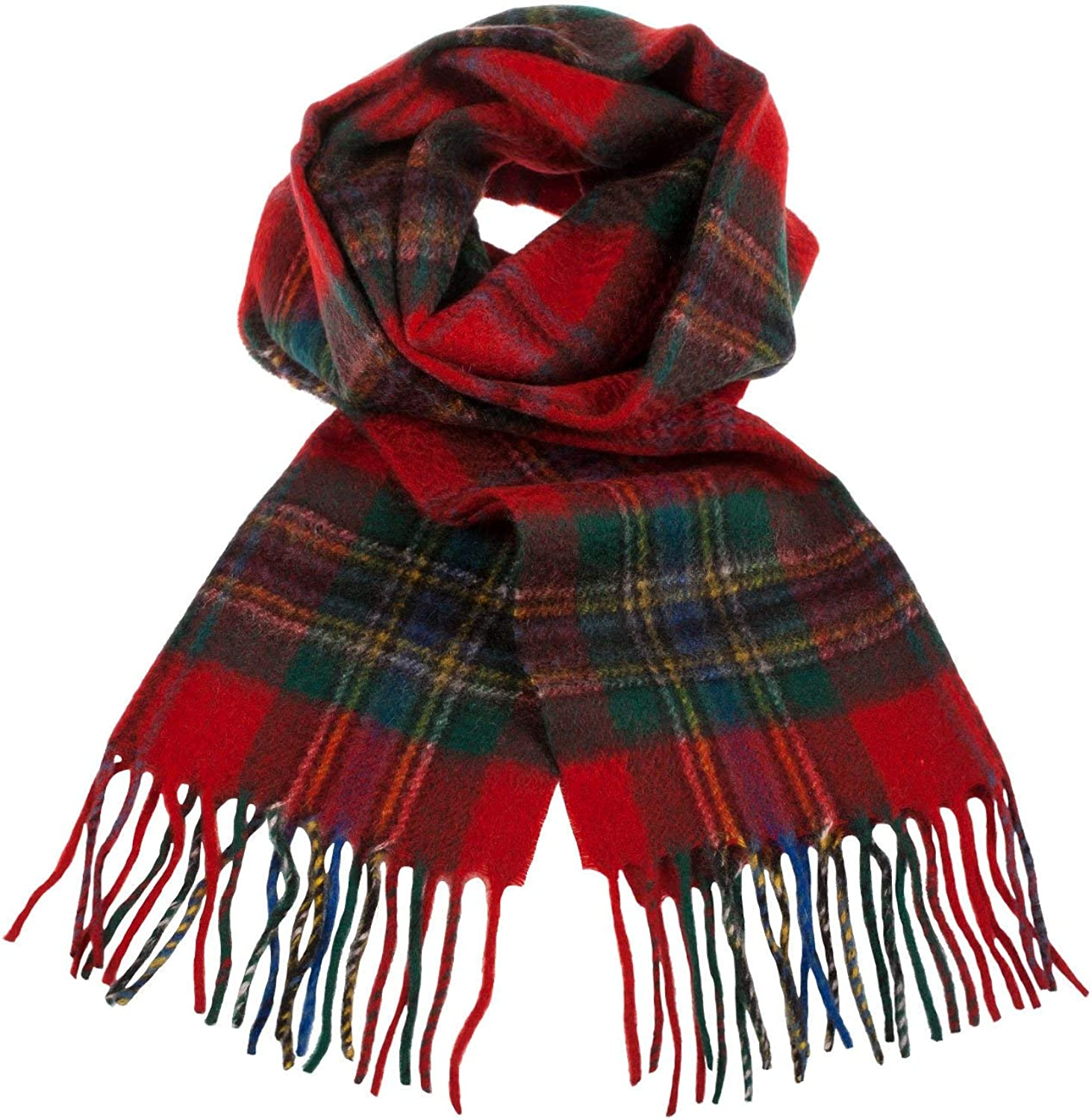 Clans Of Scotland Scottish Tartan Cashmere Scarf Maclean Of Duart (One Size)