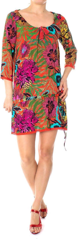 Desigual Women's 19SWMW24MULTI Multicolor Cotton Dress