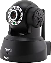 TENVIS JPT3815W-HD Wireless Surveillance IP/Network Security Camera, Baby Monitor, Night Vision, Black