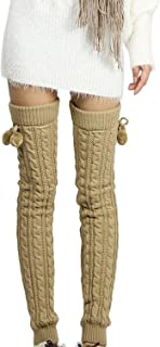 Women's Fashion Winter Leggings Boots Long Leg Warmer Knit Crochet Socks Knitted Warm Boot Toppers Cuffs thigh high socks